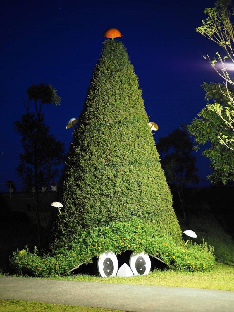 宜蘭冬山河生態綠舟的裝置藝術,逗趣可愛。 圖/縣政府提供