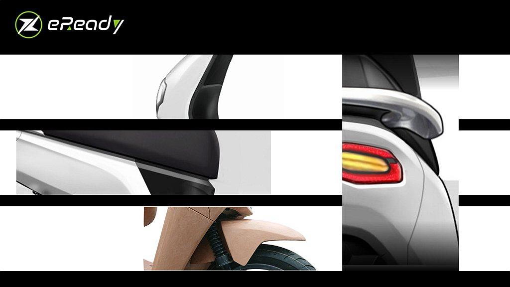 概念圖中不難發現eReady將尾燈設計視為整體造型中,最能夠在消費者心中留下一道...