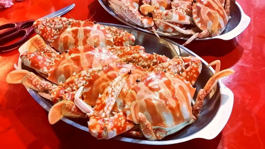 龜吼漁港的清蒸花蟹。 圖/報系資料照