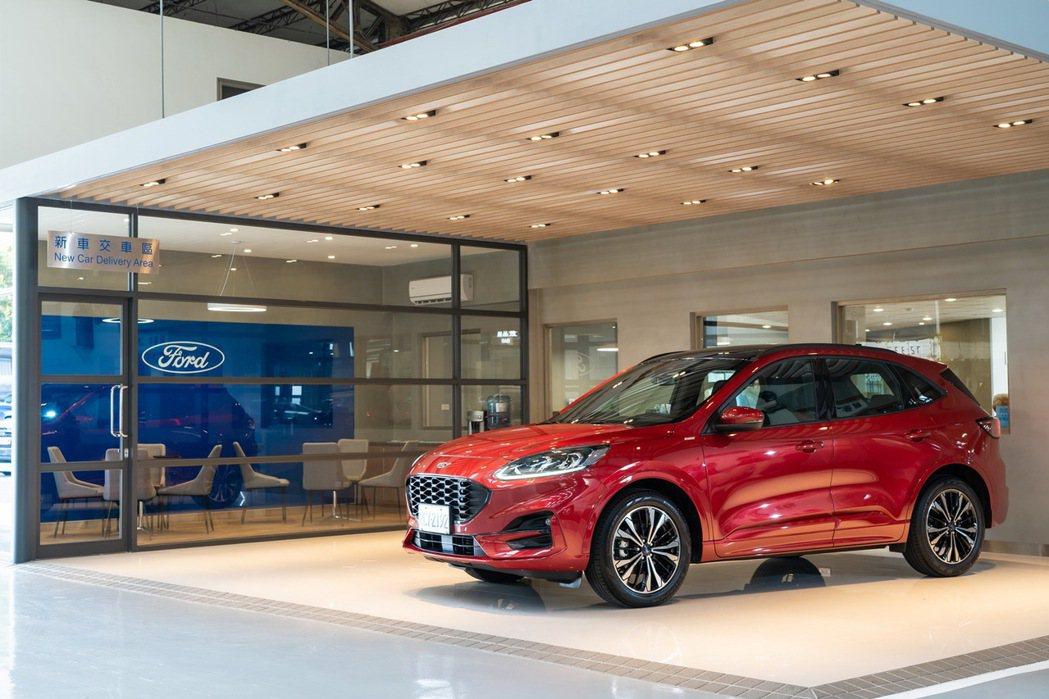 Ford福彰汽車員林據點以俐落的嶄新格局與專屬的交車空間迎接新車車主。 圖/福特...