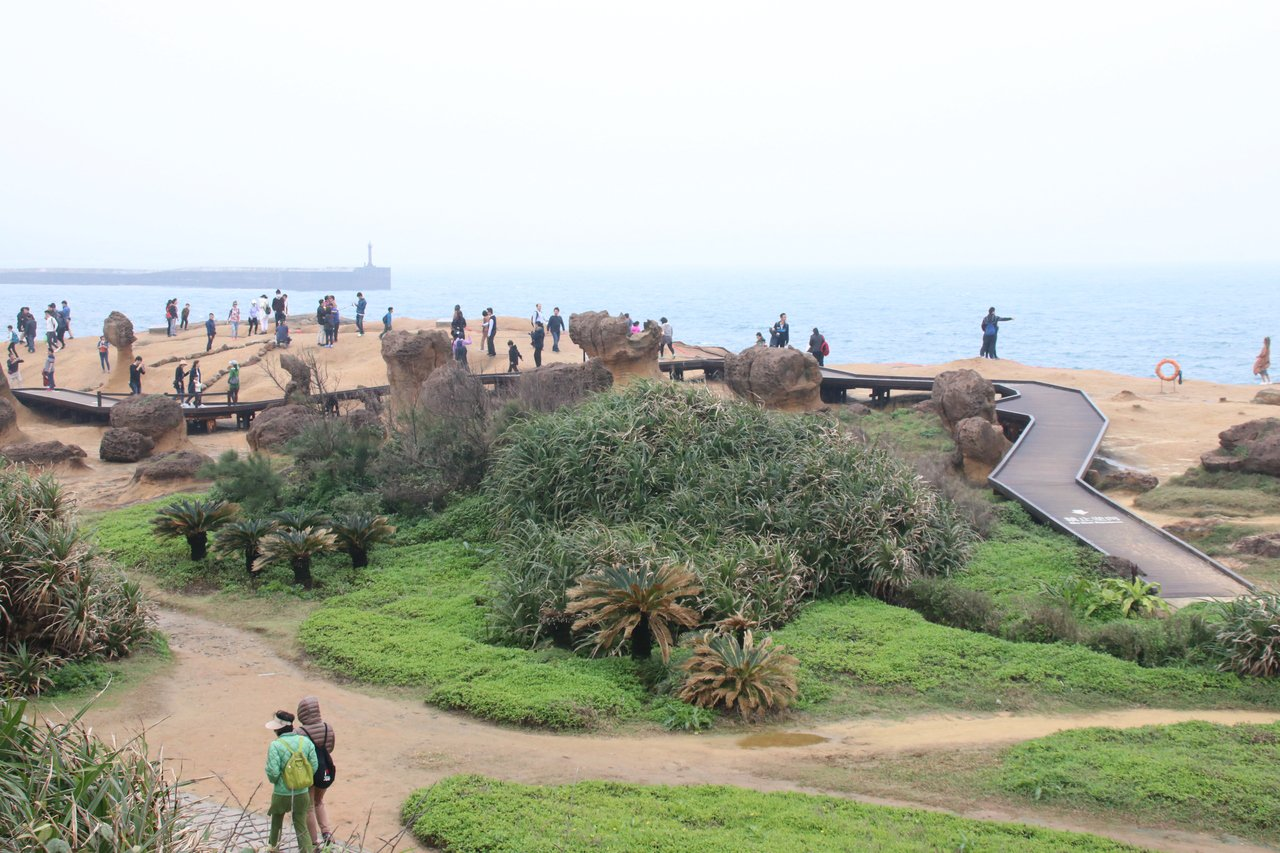 野柳地質公園是遊客經常造訪之處。 圖/曾健祐 攝影