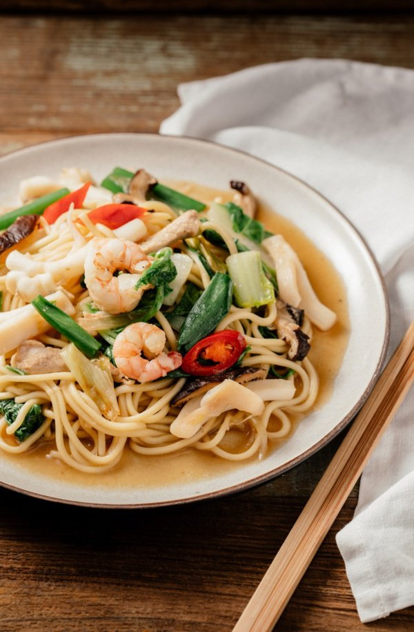 台式海鮮炒麵。 圖/幸福文化提供