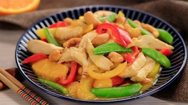 橙香鮮魚炒雞柳。 圖/幸福文化提供