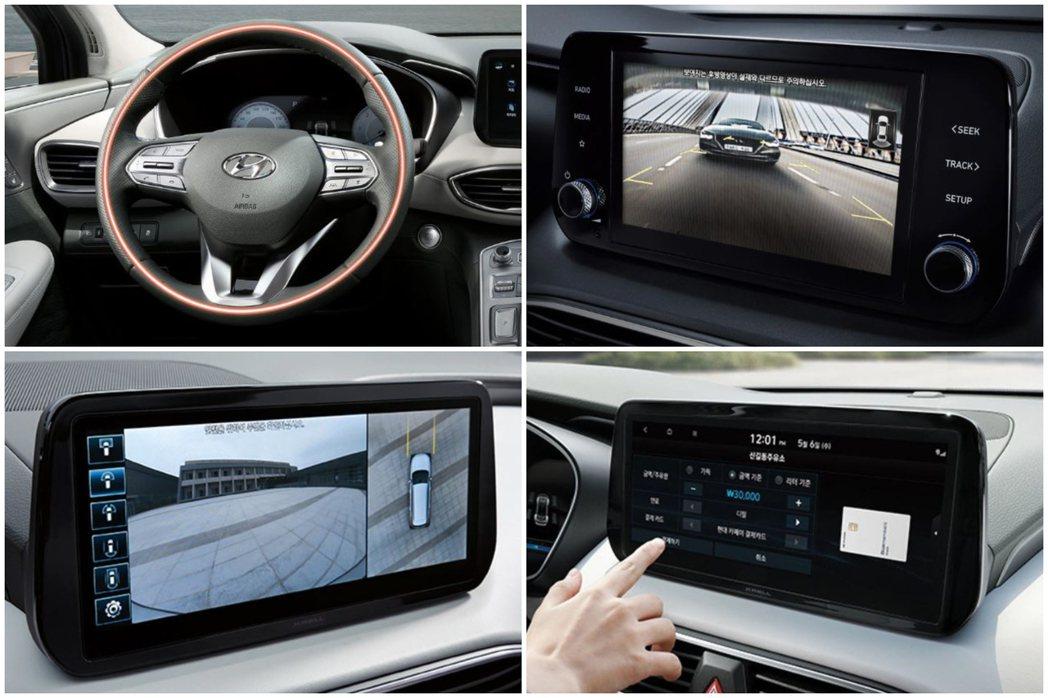 小改款Hyundai Santa Fe導入Hyundai Cafe行動支付功能。...
