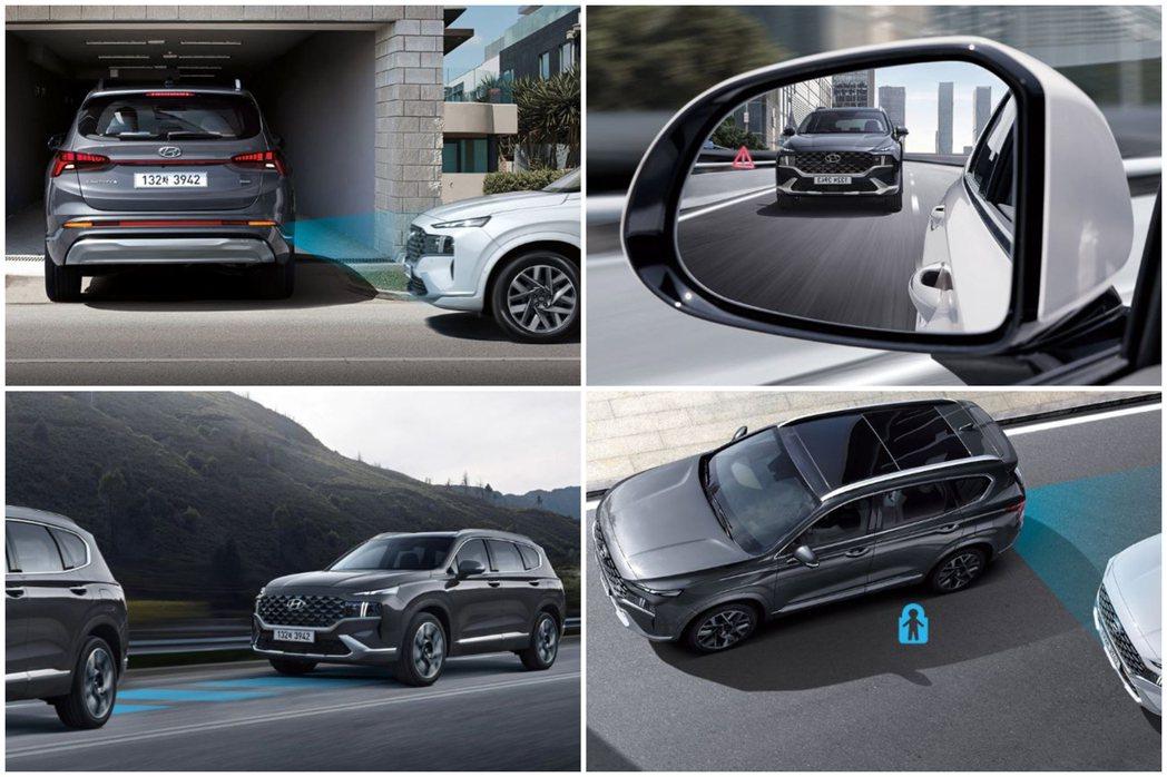 小改款Hyundai Santa Fe擁有多種主動式安全配備。 摘自Hyunda...