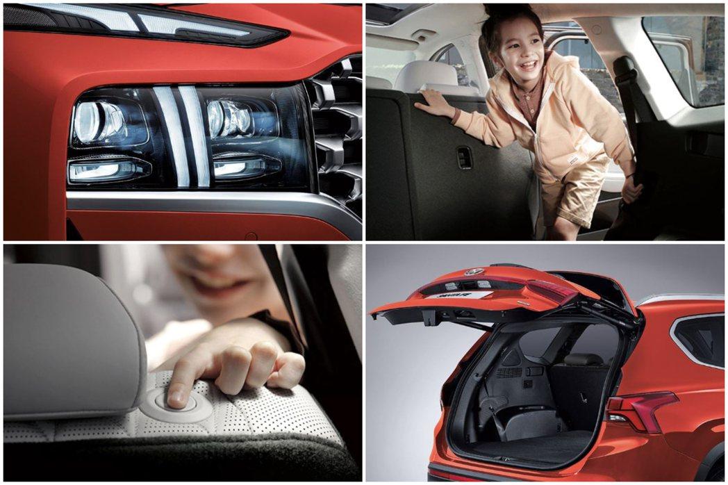 小改款Hyundai Santa Fe有電動尾門。 摘自Hyundai