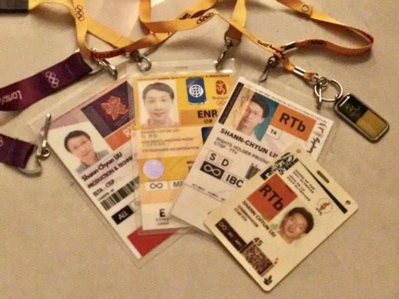 劉善群的奧運記者證。 圖/劉善群提供