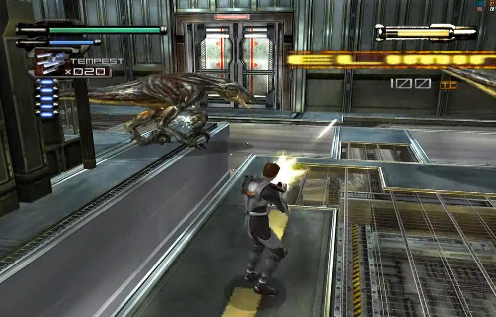 在 Xbox 主機上推出的《恐龍危機3》,舞台突然大躍進跑到宇宙,玩法主要也是動...