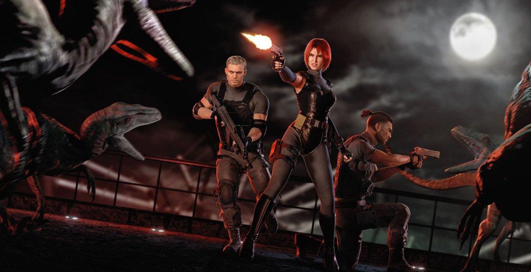 玩家自行設想並且製作的恐龍危機重製版之遊戲封面圖。
