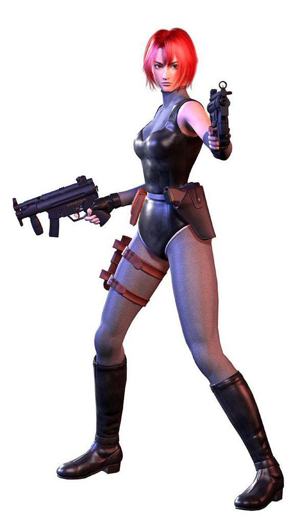 恐龍危機系列的主角,蕾吉娜(Regina)。紅色頭髮與戰鬥服是她兩處最大的特徵。