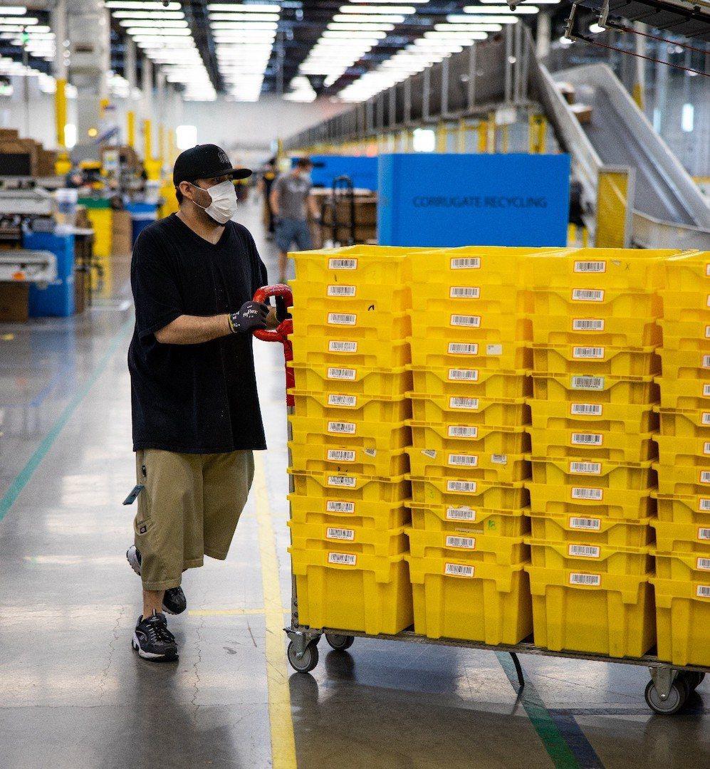 FBA(亞馬遜倉儲物流)倉庫。 亞馬遜/提供