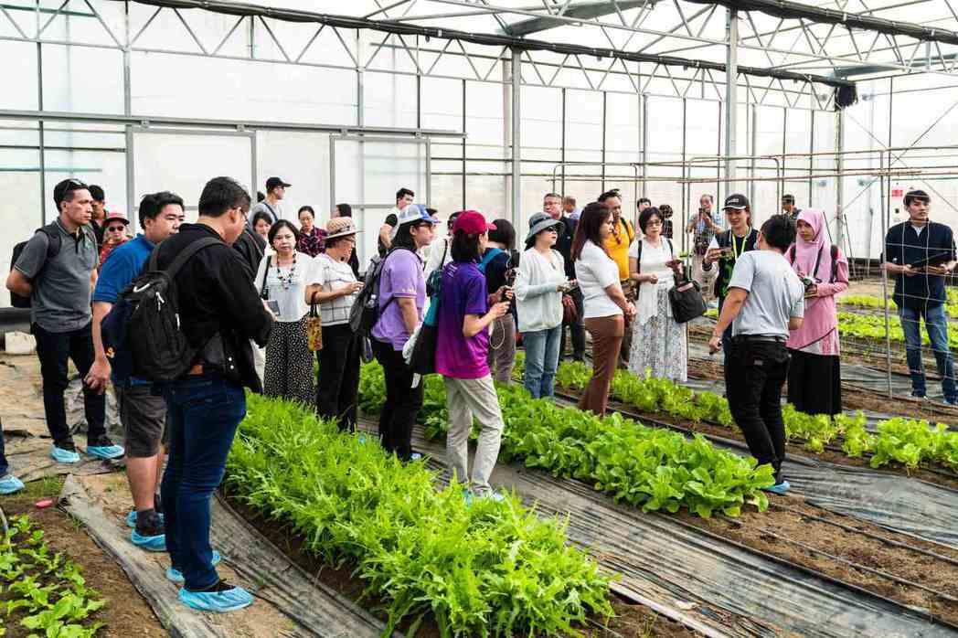 2019年台灣智慧農業週主辦單位安排買主前往參展商的生產基地參觀。 貿有展覽/提...