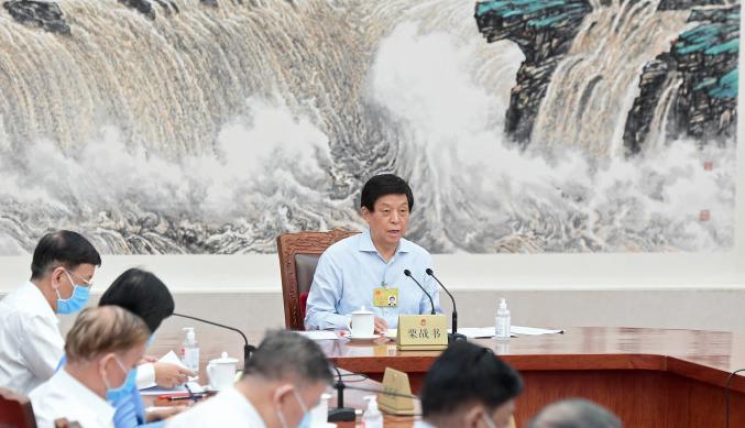 中共全國人大常委會卅日表決通過港區維護國家安全法。新華社照片