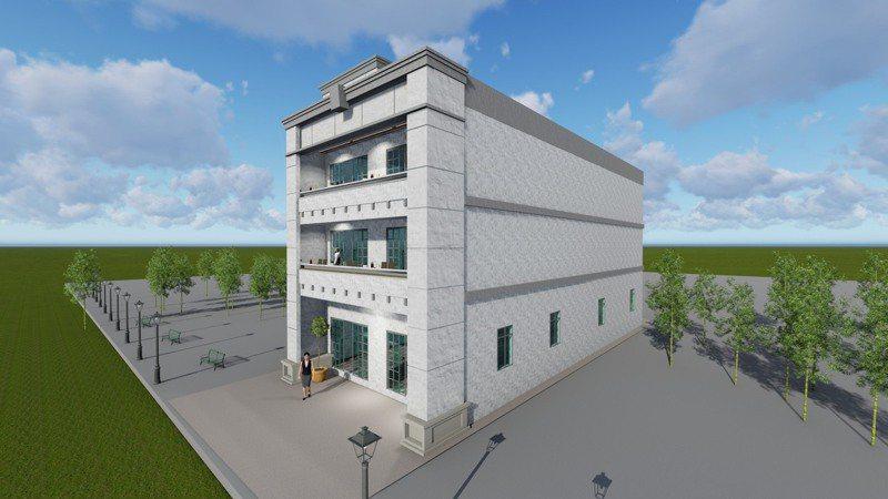 南六慈善基金會計畫在台南六甲興建的中央廚房,3層樓建築設計圖首曝光。圖/蔡淵湶提供