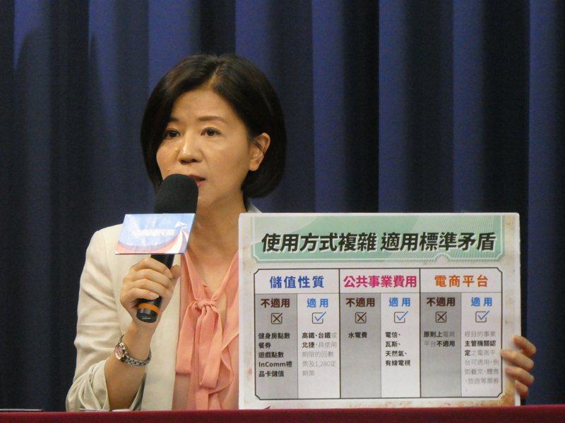 國民黨文傳會主委王育敏上午表示,國民黨支持港人治港、高度自治,遺憾大陸通過港版國安法,讓一國兩制空間沒有了。記者周志豪/攝影