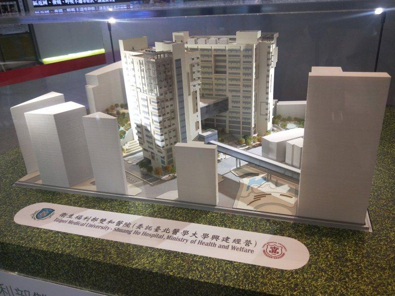 台北醫院大學雙和園區B基地預計可在明年完工。記者江婉儀/攝影