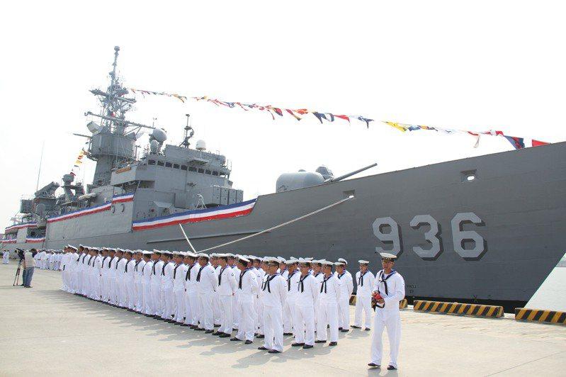 舷號936的海陽軍艦2015年與同級的濟陽軍艦一起除役,任務由我向美採購的派里級艦銘傳艦、逢甲艦所取代。記者洪哲政/攝影