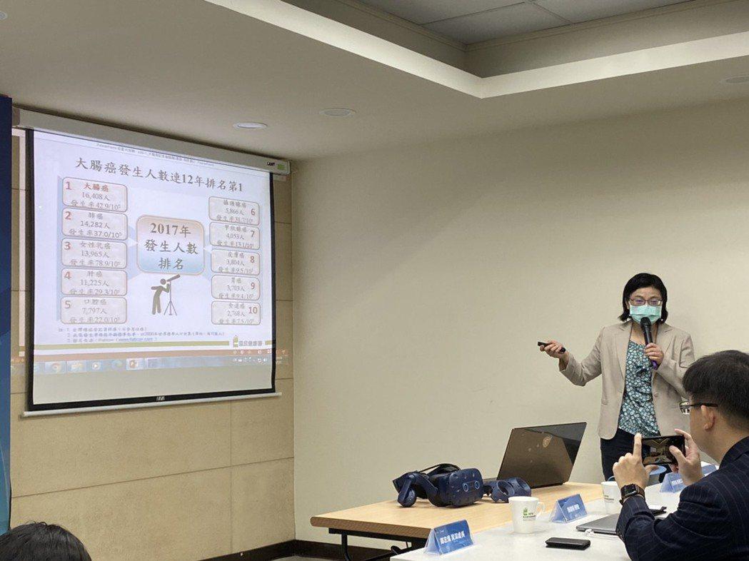國健署癌症防治組長林莉茹表示,台灣大腸癌的發生人數,已連續12年盤踞10大癌症之...
