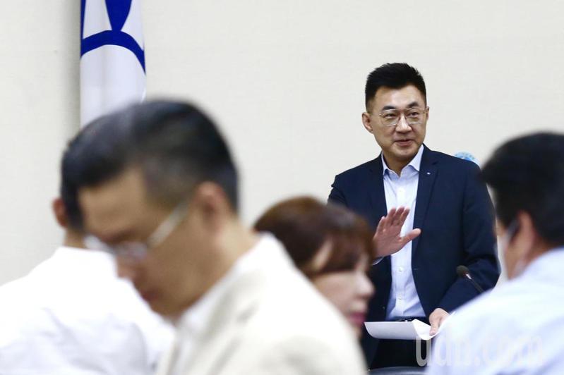 民進黨批評江啟臣,對於近期來中國公務船騷擾相關水域作業漁民引發更名風波,衝擊區域穩定,至今未置一詞。記者林俊良/攝影