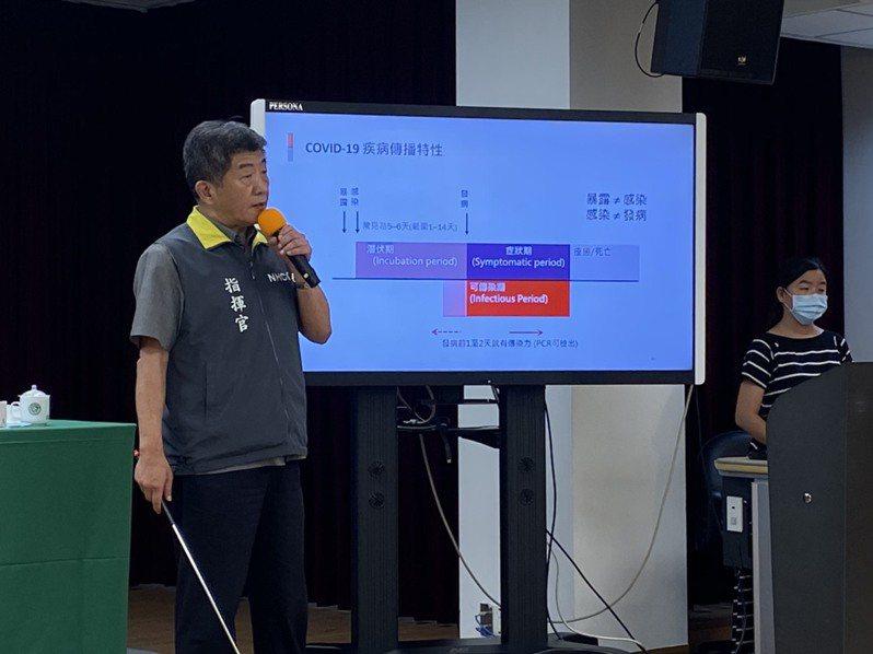 指揮中心指揮官陳時中。記者簡浩正/攝影