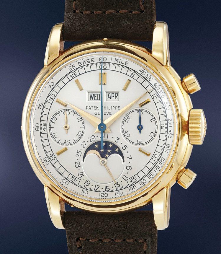 富藝斯「名錶薈萃─日內瓦XI」拍品編號155的百達翡麗型號2499第二代黃金版本...