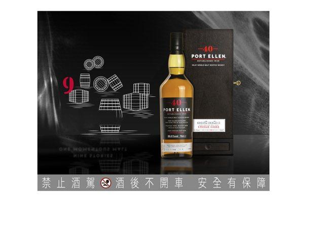 PORT ELLEN 40年單一麥芽威士忌原酒,建議售價225,000元。圖/帝...