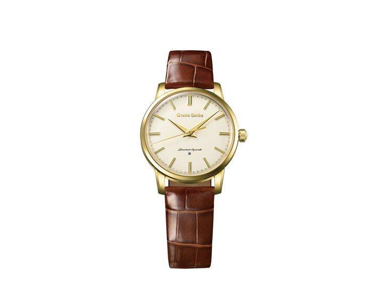 首款Grand Seiko復刻系列SBGW258腕表,18K金表殼,約82萬元。...