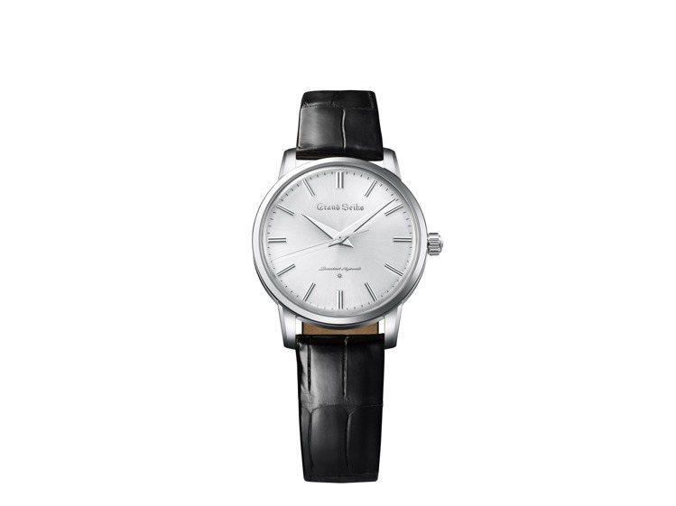 首款Grand Seiko復刻系列SBGW257腕表,鉑金表殼,18K金表盤,約...