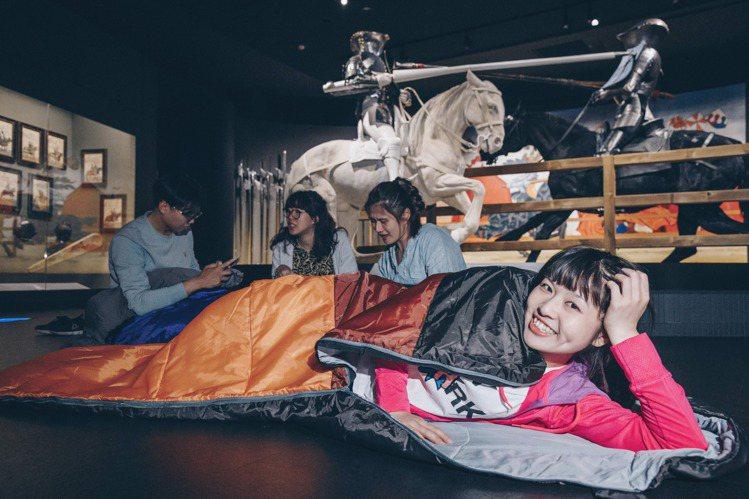 奇美博物館首度舉辦夜宿活動,號召成人玩家挑戰實境遊戲,感受博物館驚魂夜。圖/奇美...