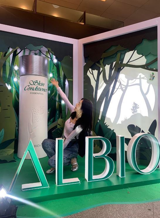 ALBION健康化妝水推出綠色奇蹟活動。圖/ALBION提供