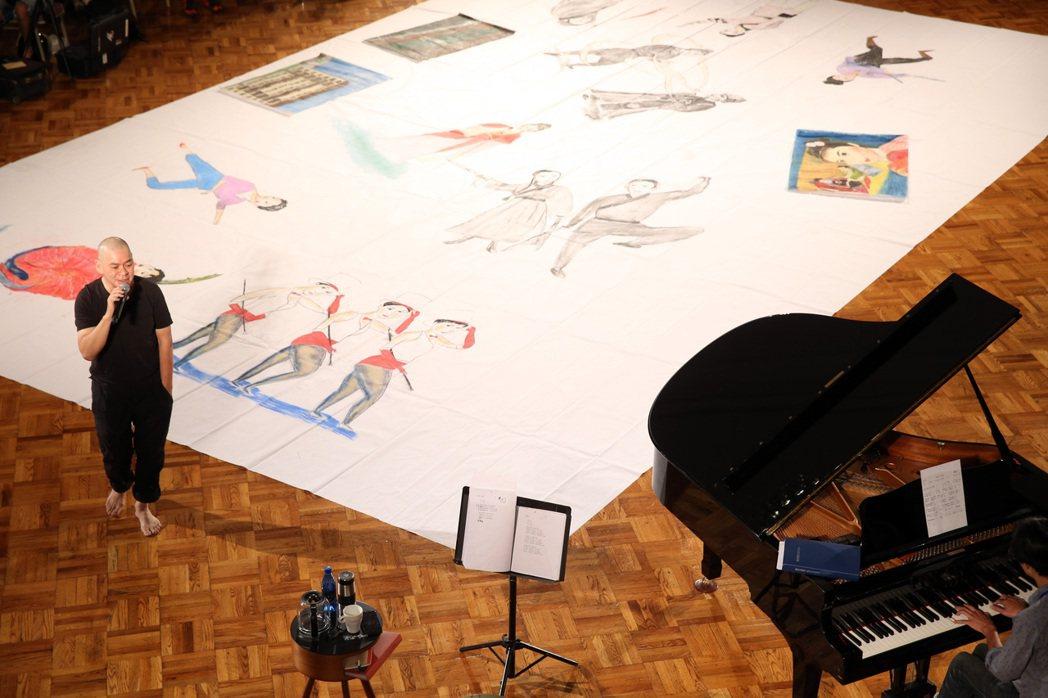 蔡明亮《電影記憶的即興創作》演出現場導覽。記者曾吉松/攝影