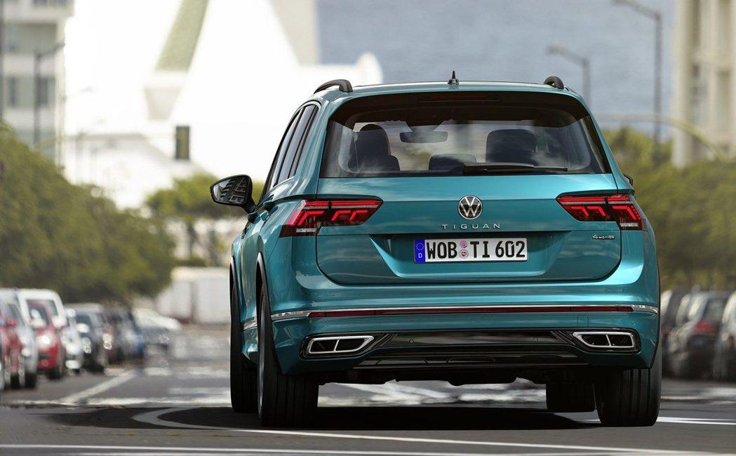 小改款Volkswagen Tiguan。 Volkswagen提供