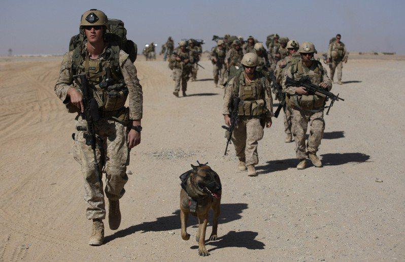 美軍陸戰隊。示意圖/美聯社資料照片