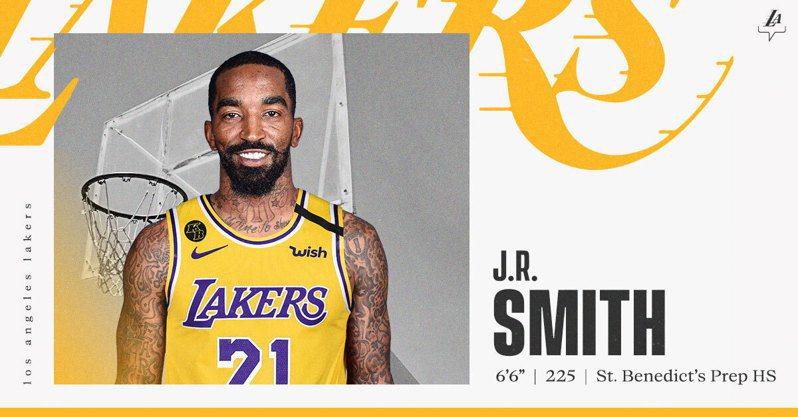 洛杉磯湖人正式宣佈簽下史密斯。 截圖自湖人官方推特