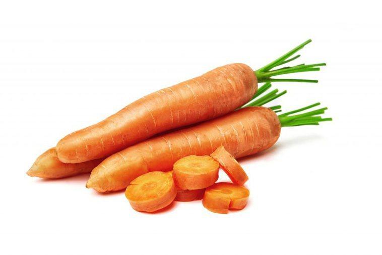 胡蘿蔔含有豐富的維生素A。