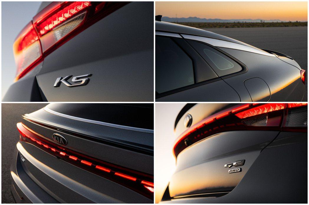 新世代美規Kia K5 (圖為K5 GT-Line外觀特色)。 摘自Kia