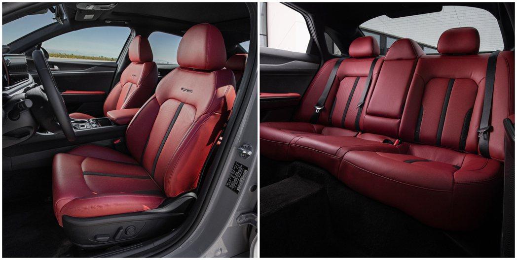 美規Kia K5 GT-Line座椅。 摘自Kia