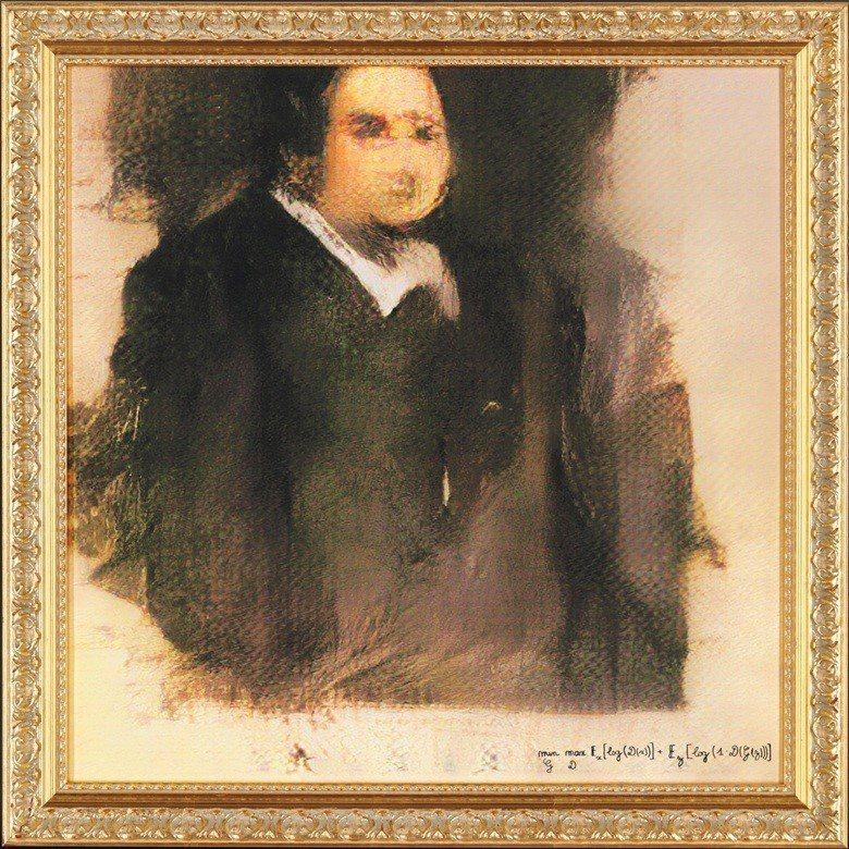 Portrait of Edmond Belamy是法國巴黎藝術團體Obviou...