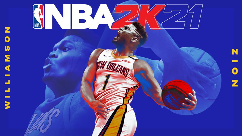 鵜鶘「怪物狀元」威廉森成為NBA2K系列封面人物。 截圖自NBA2K21官方推特