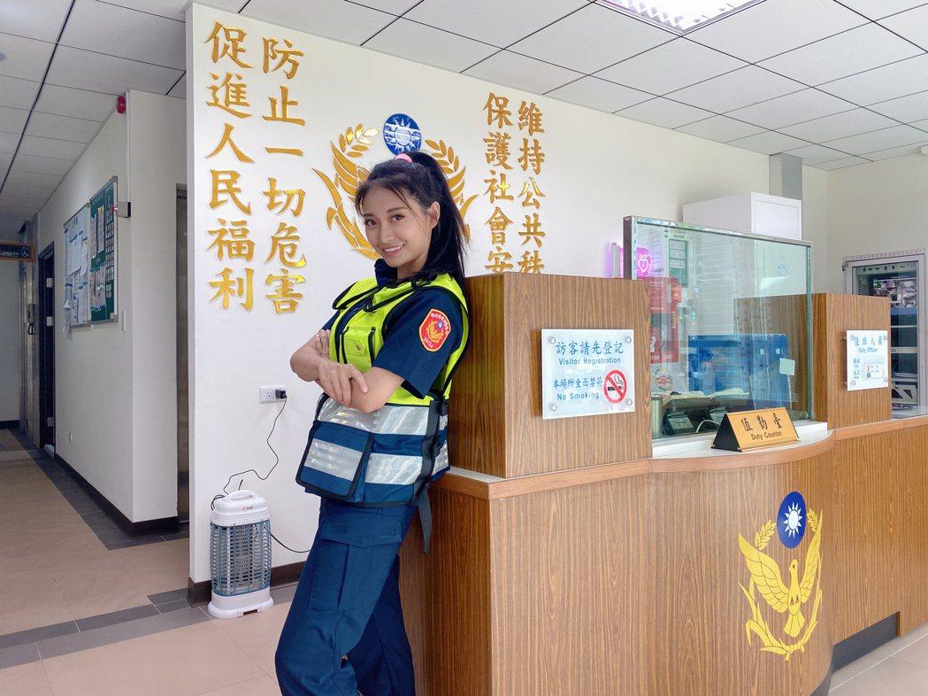 祈錦鈅擔任新北市政府警察局宣導代言人。圖/固力狗娛樂提供
