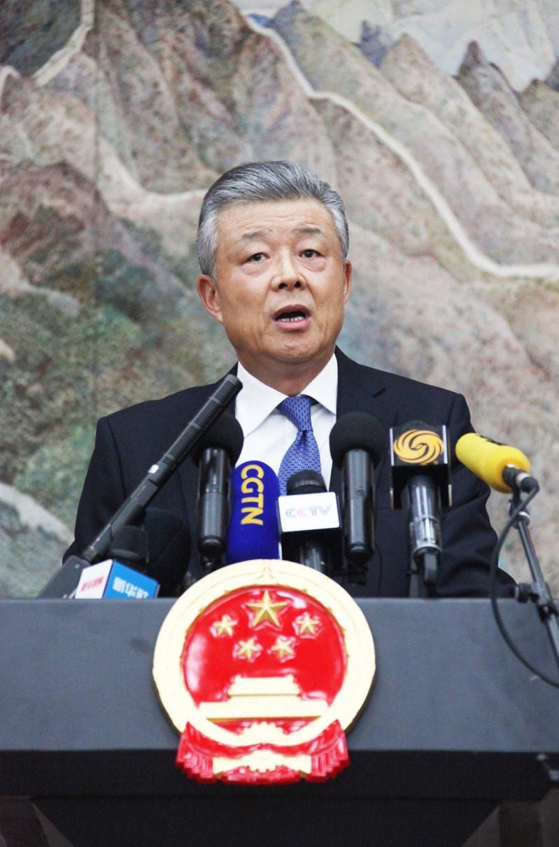 中共駐英國大使劉曉明。中新社