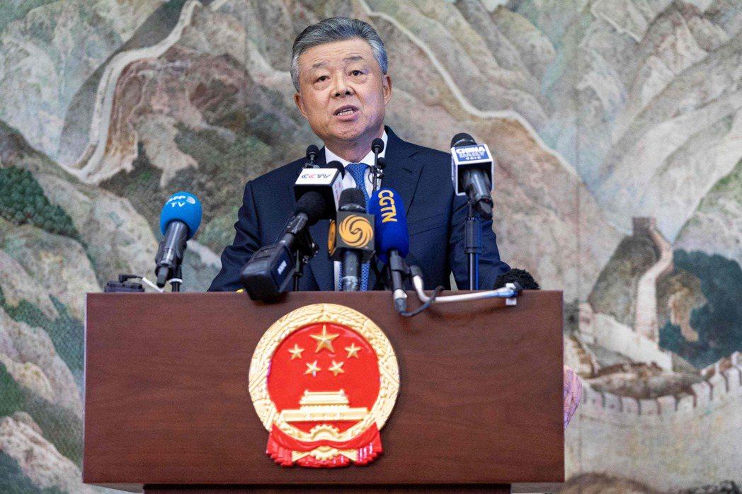 中共駐英國大使劉曉明。(法新社)