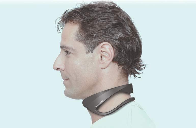Fujitsu General自6月起開始提供戴在頸間的降溫裝置。 圖/Fujitsu General