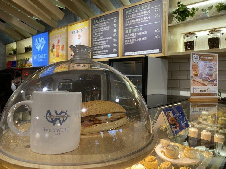 全聯We Sweet Café咖啡廳還有莊園咖啡、輕食鹹點、港式冰火菠蘿油等多樣...