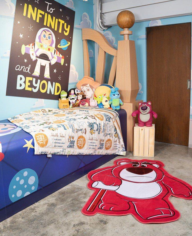 電影經典場景安弟的房間和玩具們。圖/主辦單位提供