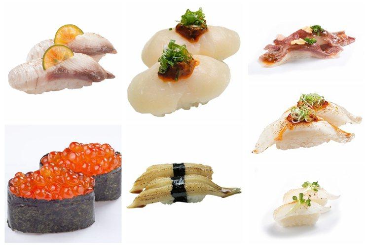 海壽司限時推出指定壽司多一貫的加量優惠。圖/海壽司提供
