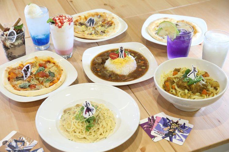 主題餐廳總共供應6款主餐,4款飲品與2種甜點。記者陳睿中/攝影