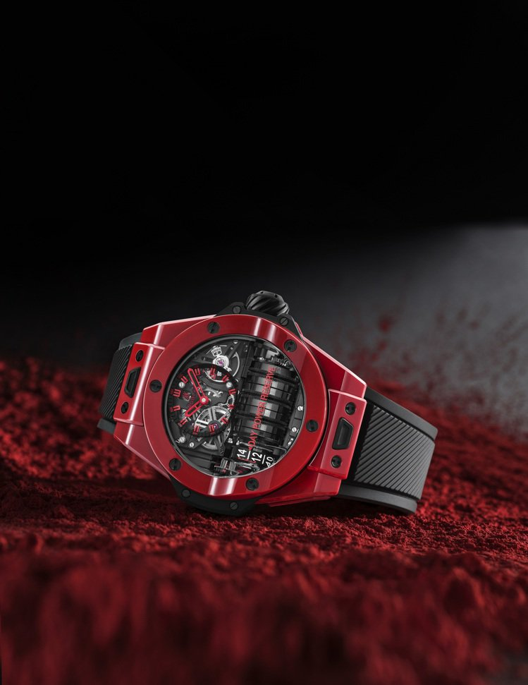 HUBLOT BIG BANG MP-11魔力紅陶瓷腕表,45毫米拋光紅色陶瓷,...