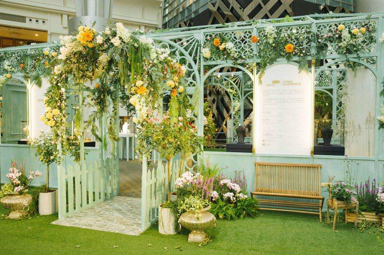 位於四樓廣場中庭的「莫內珠寶秘境」,像一方法式浪漫花園,讓人於其中盡情欣賞包含H...
