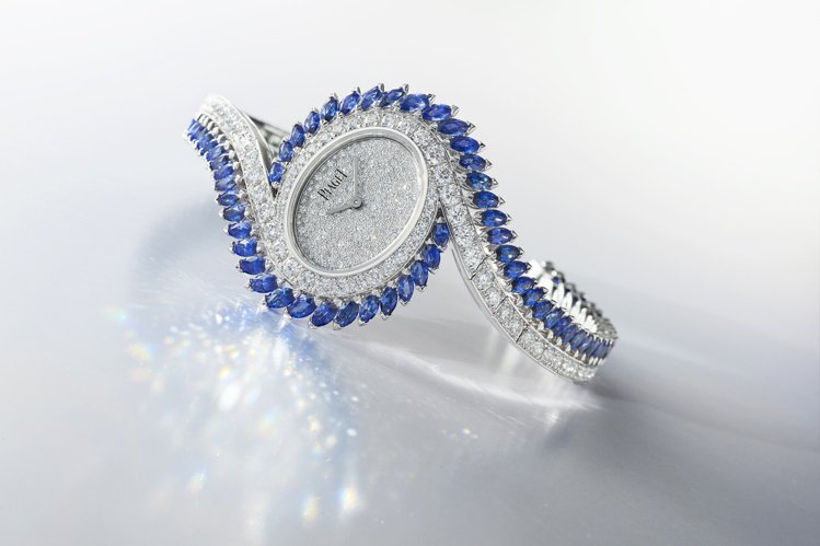 全球首展曝光的伯爵Limelight Gala藍寶石及鑽石頂級珠寶腕表(G0A4...